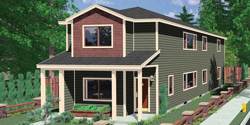Stackec Duplex House Plan D-552