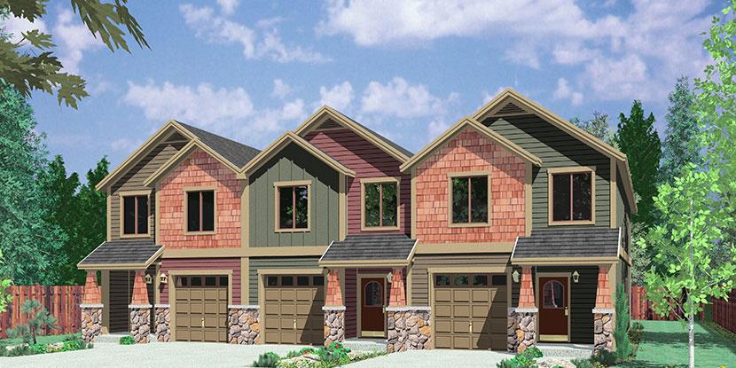 Investment Properties Duplex Triplex and Four plex house plans
