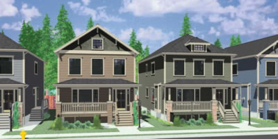 House plans duplex triplex custom building design firm for Multigenerational home designs