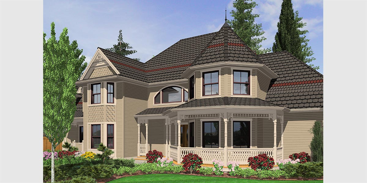 Luxury house plans with turrets for House turret designs