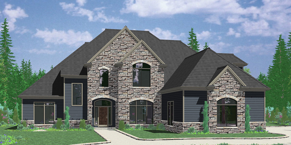 Ranch home plans with side load garage for Ranch style house plans with garage on side