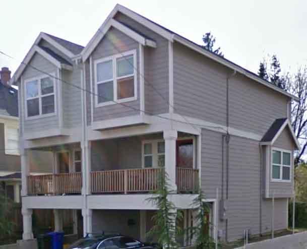Narrow lot townhouse plans duplex house plans 3 level d 519 for Townhouse duplex plans