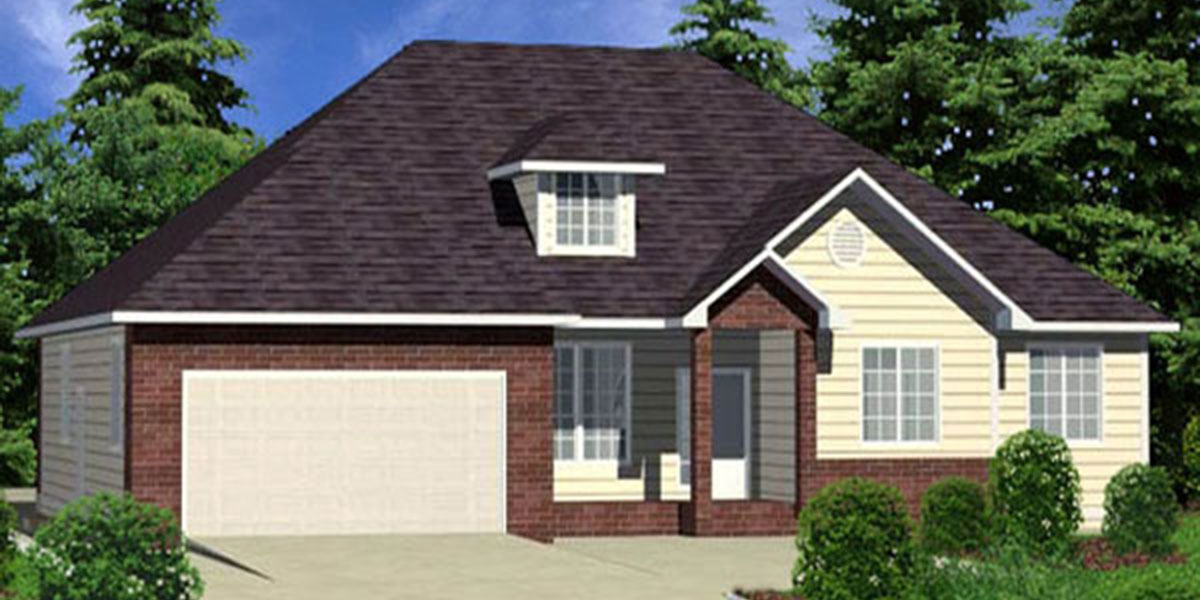 9933 House Plans, Single Level House Plans, House Plans With Bonus Room, One