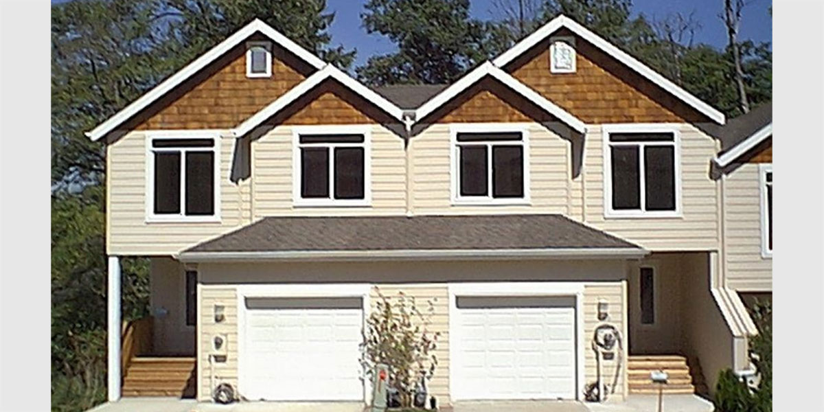 Duplex House Plans Two Unit Home Built As A Single Family