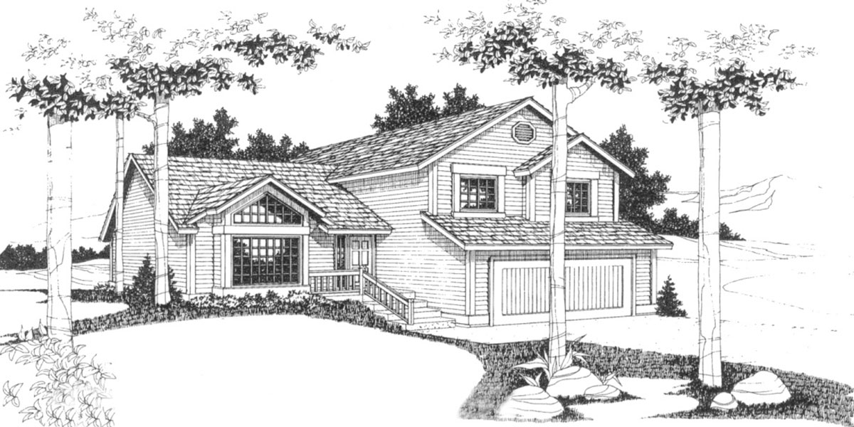 Split Level House Plans 3 Bedroom House Plans 2 Car Garage Hous