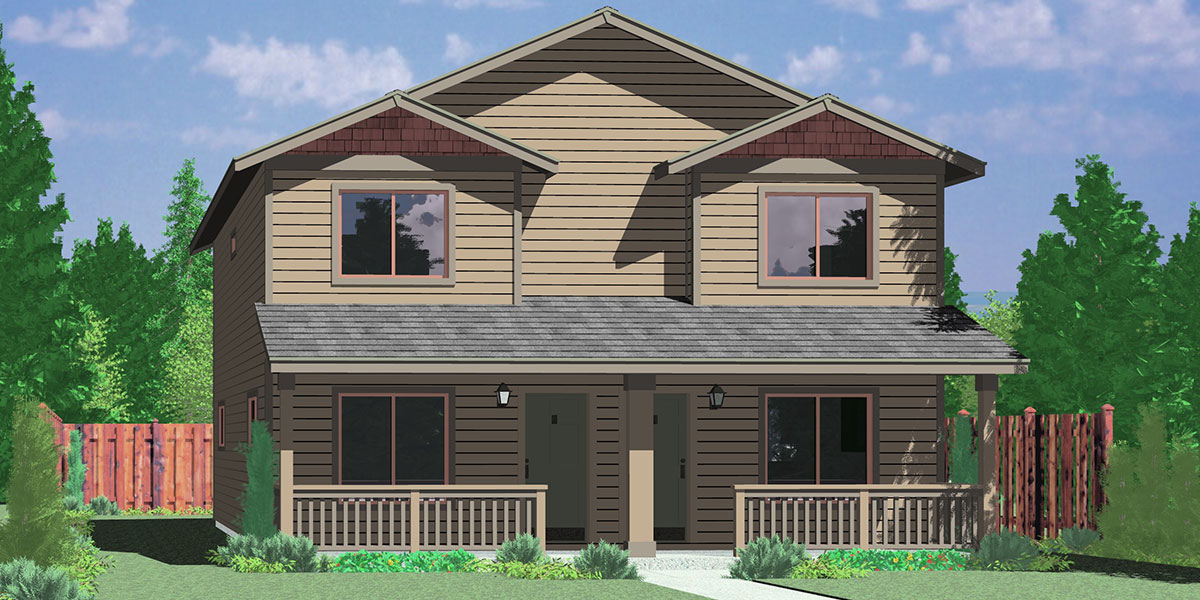 Triplex House Plans Multi Family Homes Row House Plans