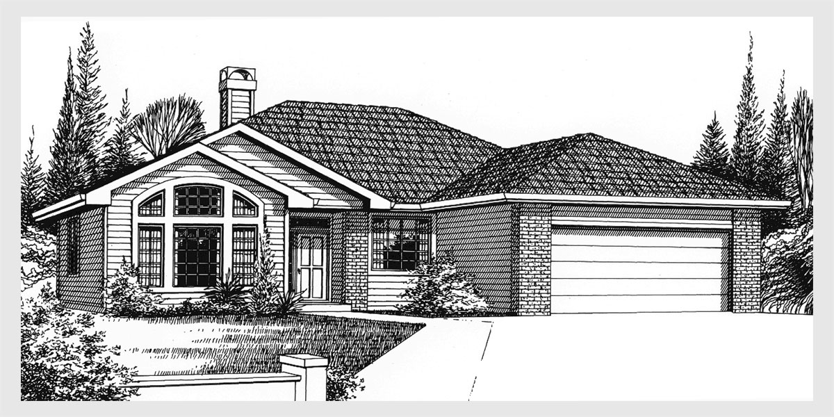 Single level house plans for simple living homes for One level ranch home floor plans
