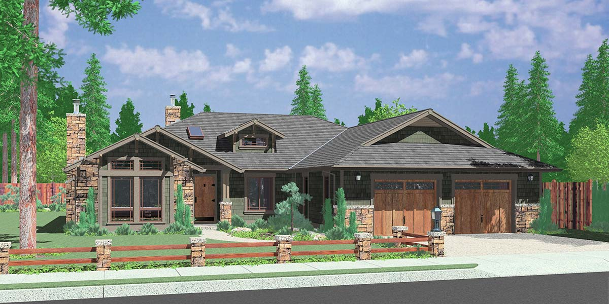 Ranch house plans american house design ranch style home for One level ranch house plans