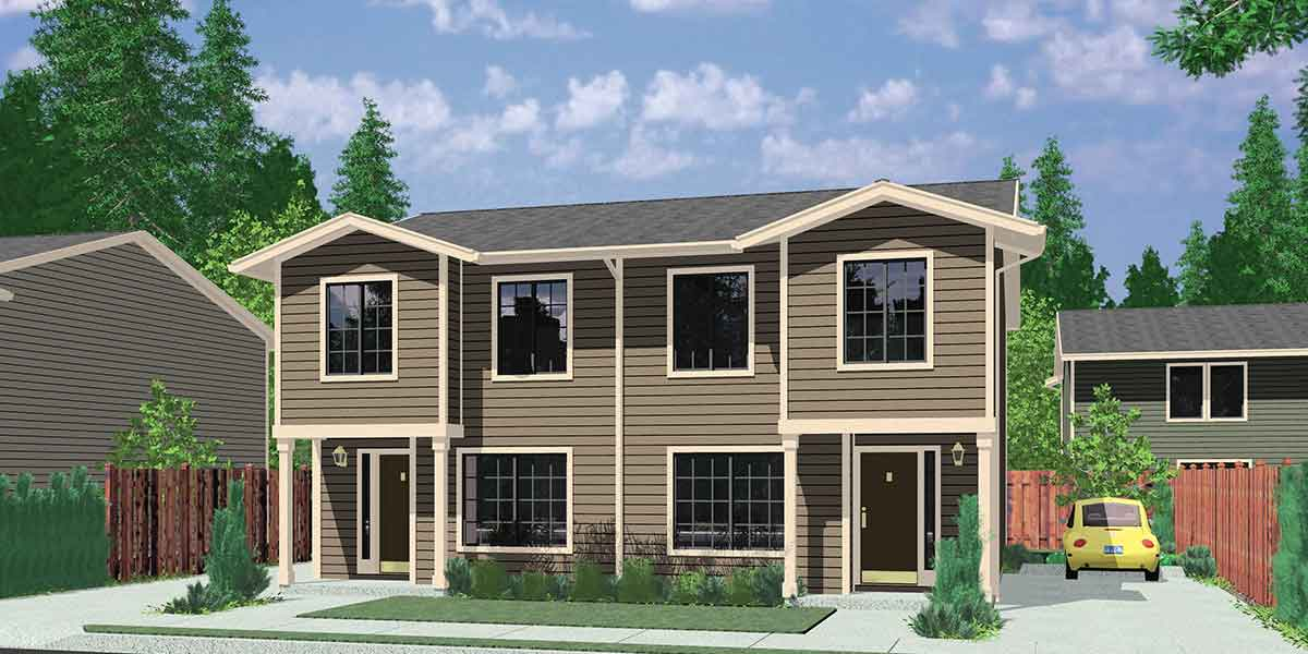 Small affordable house plans and simple house floor plans for 2 bedroom 1 bath duplex floor plans