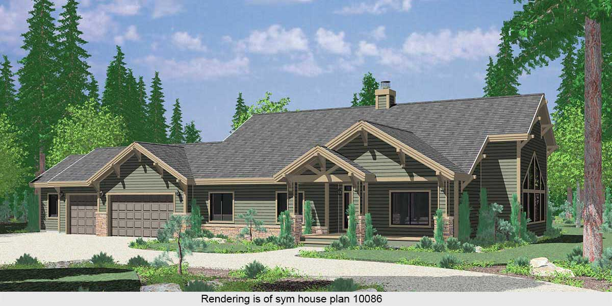 gabled roof house plan