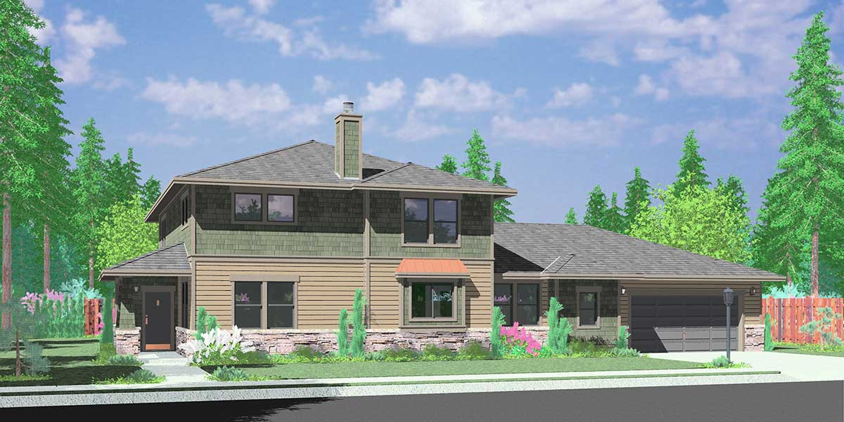House plans with mother in law suite or second master bedroom for Craftsman house plans with mother in law suite