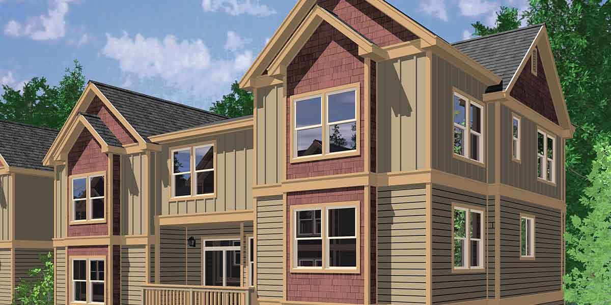 triplex house plans traditional house plans town house plans triplex house plans multi family homes row house plans