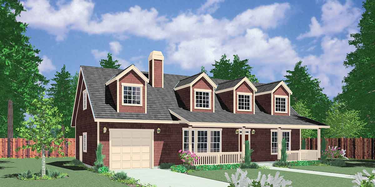 Farmhouse Plans, 1.5 Story House Plans, County House Plans ... on french house plans with dormers, small house plans with dormers, country home plans with dormers,