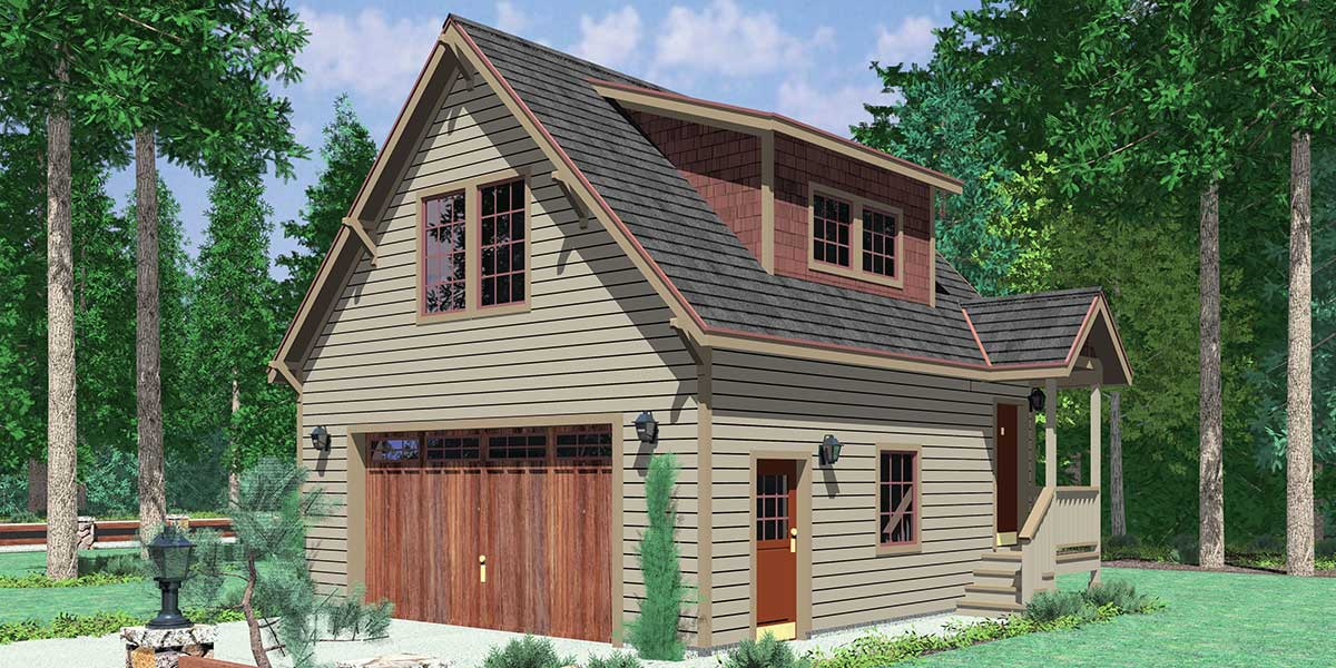 Garage Apartment Plans is Perfect for Guests or TeenagersCGA  Carriage garage plans  guest house plans  d house plans  cga