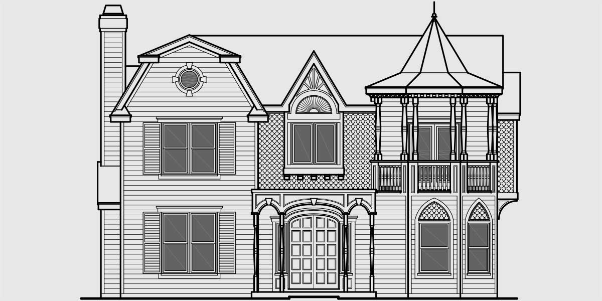 Building Front Elevation Drawings : Unique victorian classic tv munster house plan
