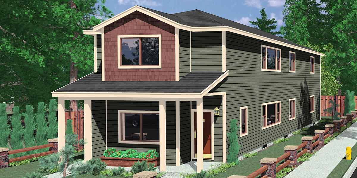 Stacked Duplex House Plans Floor Plans