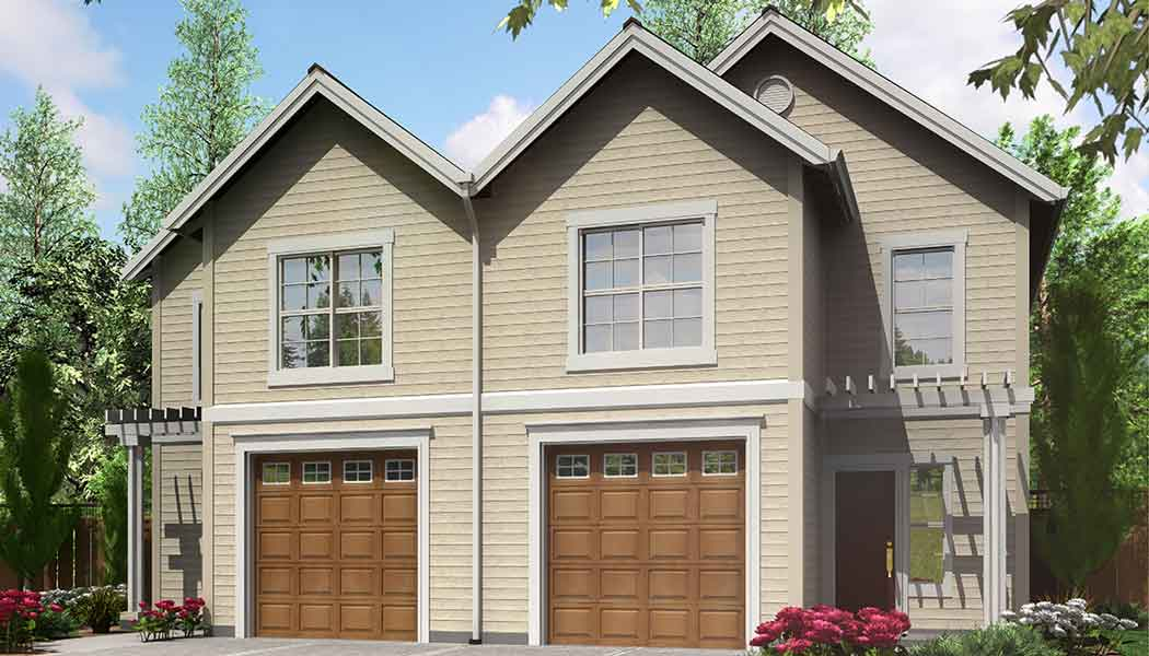 135 on Narrow 3 Bedroom Townhouse Plan
