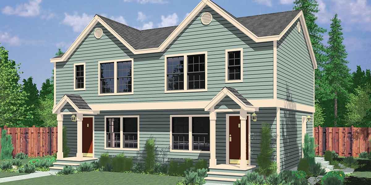 Duplex house plans small duplex house plans duplex plans for Small duplex house plans