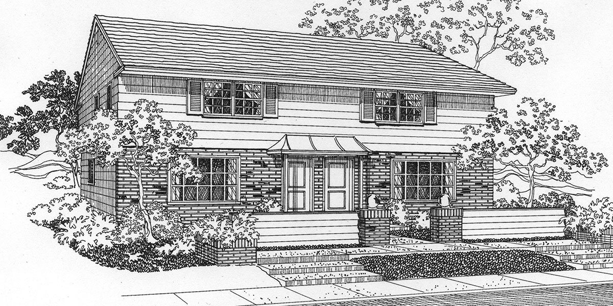 Vintage ranch house floor plans for Small duplex house plans