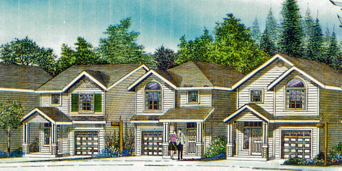 Narrow house plan at 22 feet wide open living 3 bedroom 2 for Wide frontage house designs