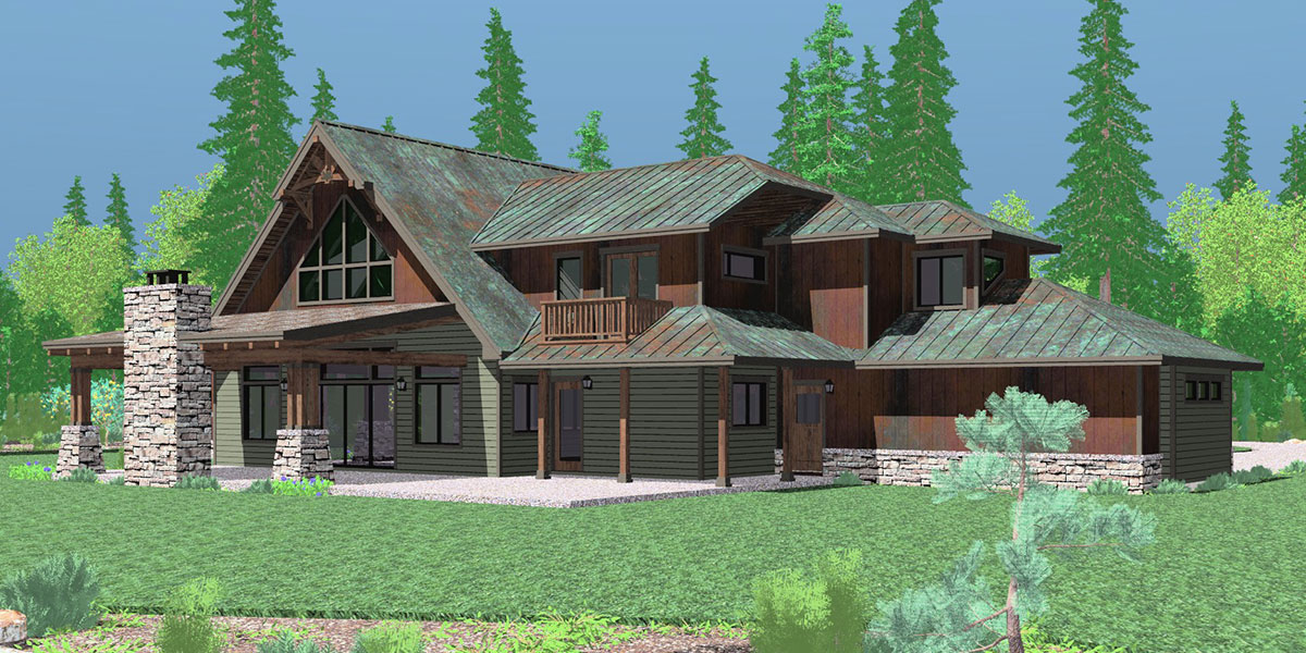 house front drawing elevation view for 10161 timber frame house plans craftsman house plans