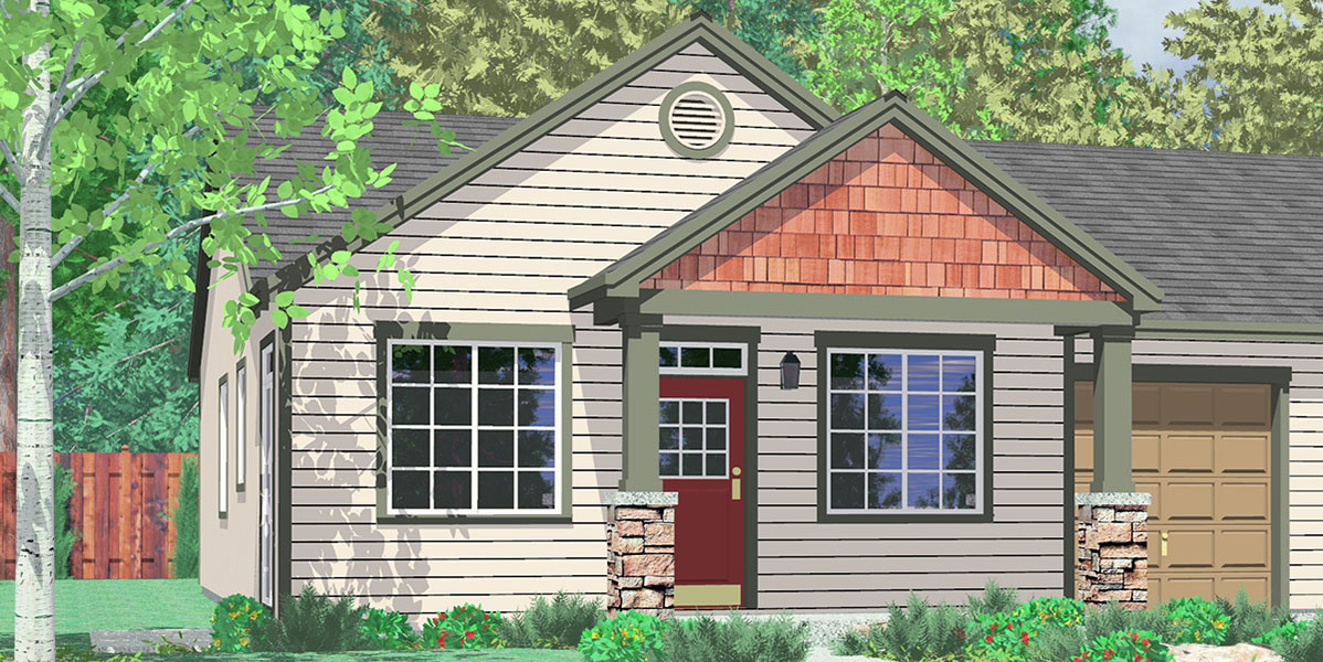 Duplex house plans with garage