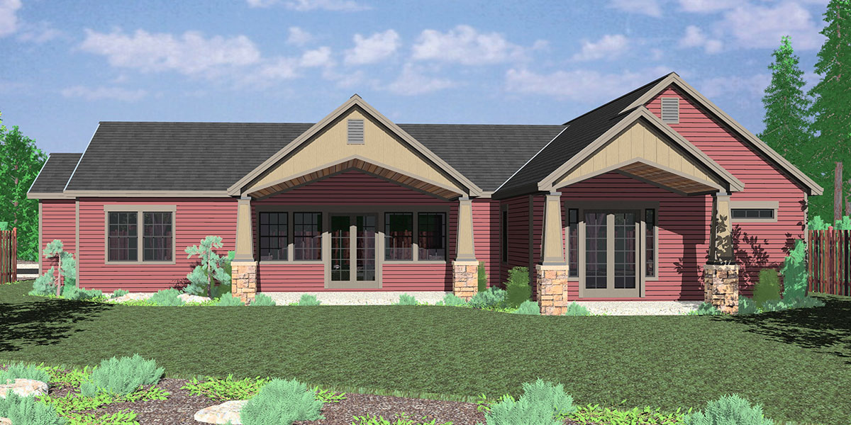 house side elevation view for 10173 portland oregon house plans one story house plans
