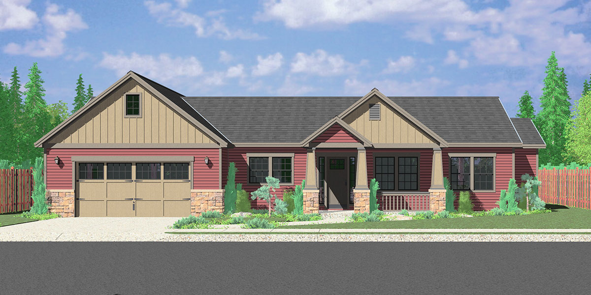 Portland oregon house plans one story house plans great room One story house plans