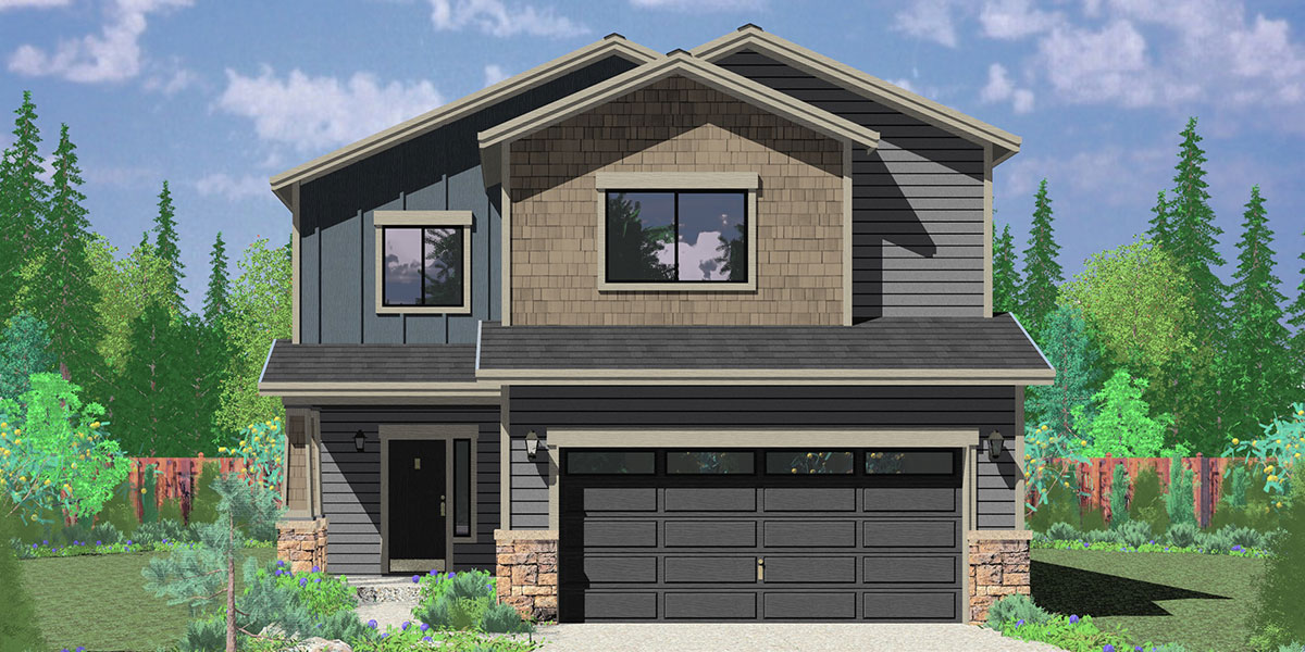 Affordable 2 Story House Plan Has 4 Bedrooms And 25 Bathrooms – Small Two Story House Plans With Garage