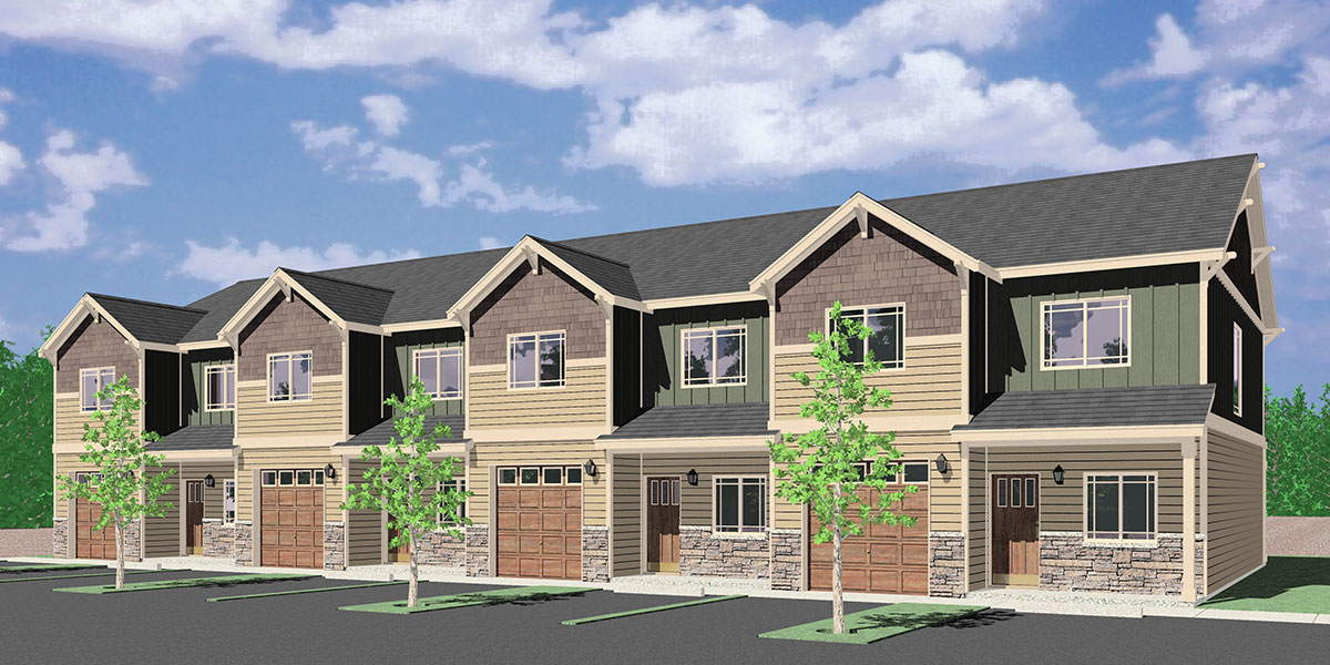 F-578 Main floor Bedroom Option, four plex, townhouse, four bedroom, plan F-578