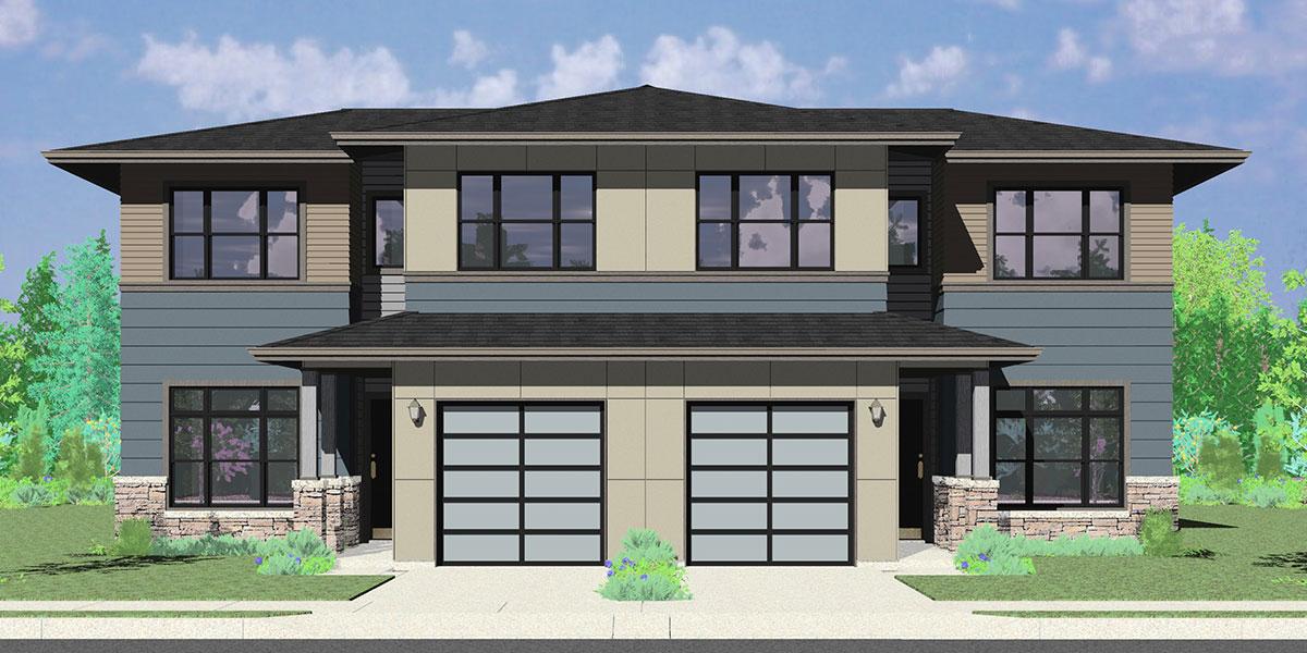 Duplex House Plans 3 Bedrooms