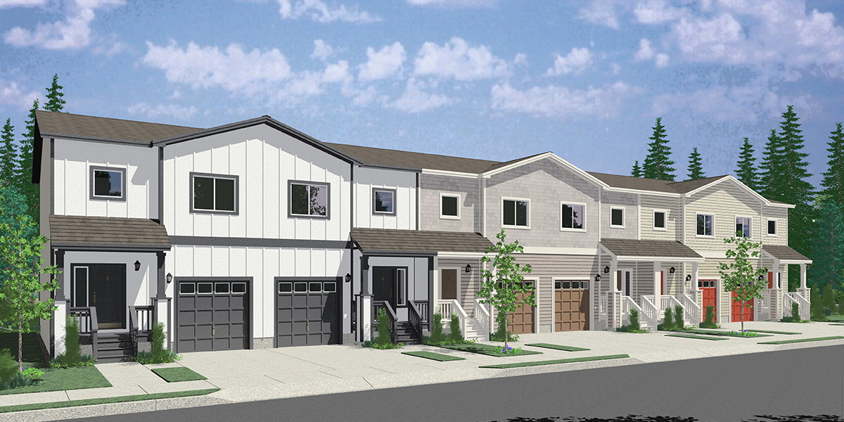 S-742 6 unit town house plan